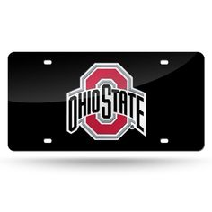 Ohio State Buckeyes NCAA Laser Cut License Plate Tag