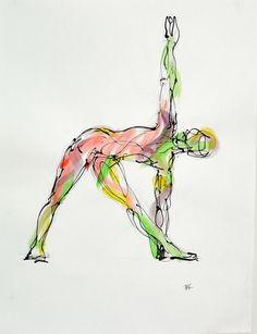 Trikonasana, available on http://fineartamerica.com/featured/trikonasana-boryana-korcheva.html,  #yoga