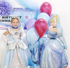 This Cinderella costume is for the prettiest of the princesses! Complete the look with a tiara, gloves, and a wand!   #cinderella #dressup #disney #movie #party