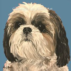 Shih Tzu art print from original Shih Tzu painting, Shih Tzu dog art. Canvas or paper prints Source by The post Shih Tzu art print from original Shih Tzu painting, Shih Tzu dog art. Canvas or paper prints appeared first on Coulson Puppies. Shih Tzu Hund, Perro Shih Tzu, Shih Tzu Poodle, Maltese Shih Tzu, Shih Tzu Puppy, Shih Tzus, Art Paintings For Sale, Dog Paintings, Brown Shih Tzu