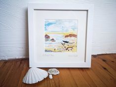 Irish Jewelry, Ocean Art, Sea Glass Jewelry, Contemporary Art, Mixed Media, Studio, Frame, Artist, Painting
