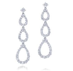 Harry Winston Triple Loop Earrings