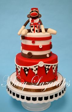 sock monkey cake - Korinne would LOVE this!!