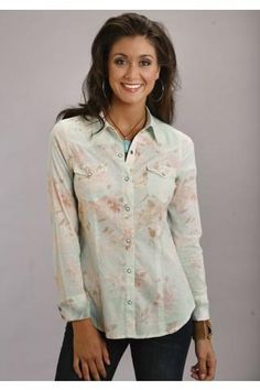 cf87b0652cfa Antique Floral Print Shirt Stetson Ladies Collection- Summer I Long Sleeve  Urban Western Wear