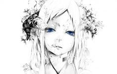 青い目の画像, штрих-код壁紙, ベクトル, モノクロ, 水の写真, 白背景, アート背景, 顔写真, 描画, 女の子物質を泡