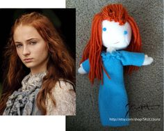 SANSA STARK doll Game of Thrones by SKULLbunz on Etsy, $25.75 Game Of Thrones Merchandise, Doll Games, Sansa Stark, Make It Yourself, Dolls, Disney Princess, Trending Outfits, Disney Characters, Unique Jewelry
