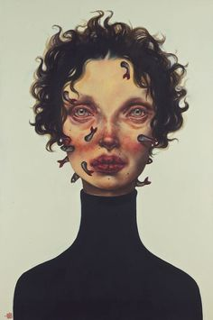 Los duros retratos de la artista iraní Afarin Sajedi.                       — Afarin Sajedi