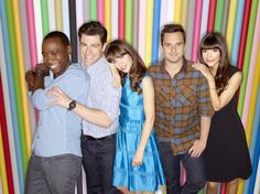 The cast of NEW GIRL on FOX