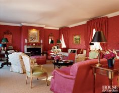 Traditional Living Room by Ralph Harvard and Walker & Gillette in Long Island, New York