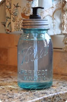 DIY ball jar soap dispenser.