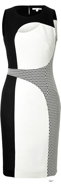Paule Ka ● Mod black and white colorblock Dress            CD/CF