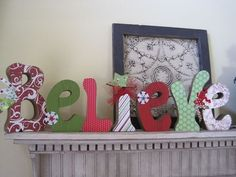 Believe letters Christmas Winter Decoupage NEW by allysatticcrafts