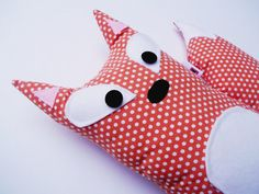 Big Plush Fox with Polka Dots by HenAndChick