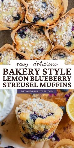 Blueberry Crumble Muffins, Blueberry Bread Recipe, Homemade Blueberry Muffins, Blueberry Cookies, Lemon Muffins, Blueberry Desserts, Vegan Blueberry, Blue Berry Muffins, Blueberries Muffins