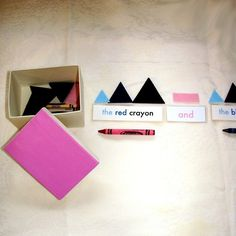 Montessori Conjunction Box - A Parts of Speech Lesson from Amy Kuhl Cox Etsy store