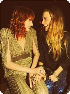 florence welch and blake lively .. 2 of my favorite ladies.