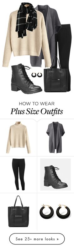 """""""Sin título #449"""" by gabrielae77 on Polyvore featuring Avenue, M&Co, Lands' End, Balenciaga, Palm Beach Jewelry and plus size clothing"""