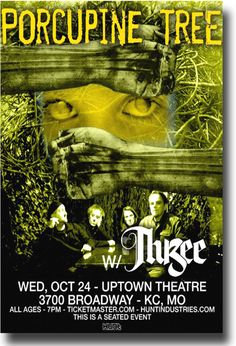 Porcupine Tree Poster Concert $9.84