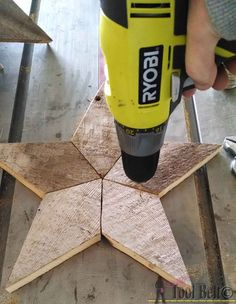 DIY: How to Make Rustic Wood Stars - using barn wood, pallet wood or new wood and wire. Pattern and tutorial are on this post - Her Tool Belt, via Made to Be a Momma