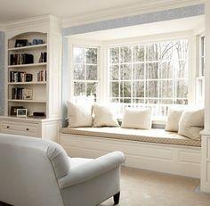 Window seat & built ins.