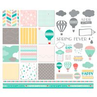 April Showers Kit -- April showers have never looked so good.  Enjoy this kit for photobooks, journals, cards, and more!  Download includes: * 12-piece SVG stamp brush set * 12 Designer Series Papers * 17 embellishments   Colors:  Bermuda Bay, Blushing Bride, Going Gray, Pool Party, Poppy Parade, So Saffron, Whisper White