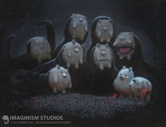 The Dangers of Late Night Mushroom Picking, Bobby Chiu on ArtStation at https://www.artstation.com/artwork/XnXeY
