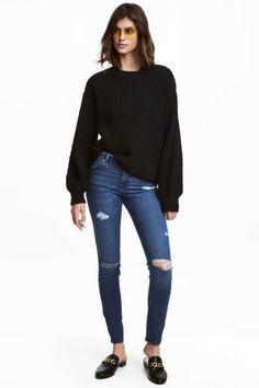 Skinny Regular Jeans - Blu denim scuro - DONNA | H&M IT 1