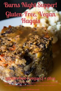 This wonderful Haggis is gluten-free | vegan | + plus AND is super easy and super delicious!  + celery free, coconut free, garlic free, gluten free, lupin free, mustard free, nightshade free, onion free, peanut free, sesame free, soya free, tree nut free, vegan +