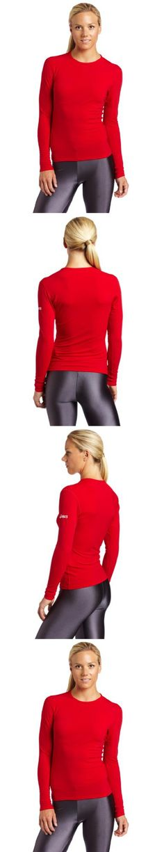 ASICS Women's Competition Long Sleeve, Red, XX-Large