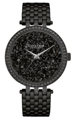 CARAVELLE NEW YORK Crystal Rock Damen Uhr 45L147 NEU & OVP