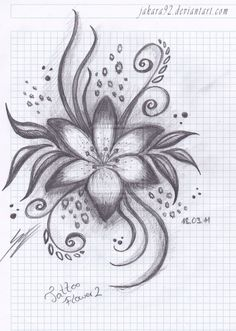 Flower model tattoo pics Beautiful design idea for Men and Women. Abstract Pencil Drawings, Pencil Drawings Of Flowers, Flower Art Drawing, Flower Tattoo Drawings, Art Drawings Sketches Simple, Painting & Drawing, Tattoo Pics, Flower Tattoos, Flower Sketch Pencil