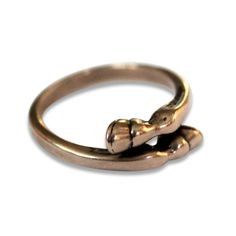 Small Horse Hoof Ring in Solid Bronze 324 by mrd74 on Etsy