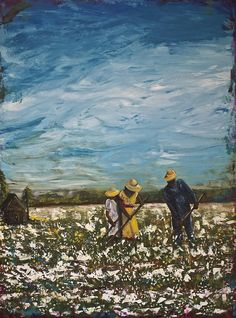 Share Croppers Painting - Our Future by Julie Janney