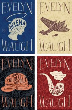 Evelyn Waugh book cover series | design by Keith Hayes | book jacket design. book cover design. publications design. books. graphic design. visual communications. typography. illustration. cover series. branding.
