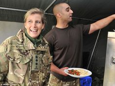 Sophie was shown the meal that she will shortly sample as part of the military skills test