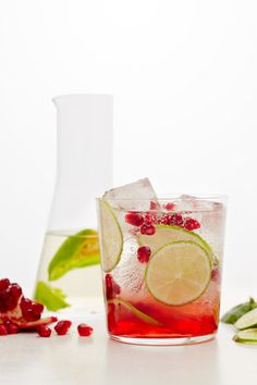 Pomegranate Margaritas with Habanero Tequila