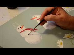 Learn How to Paint a Simple Snowman - Flower Patch Farmhouse