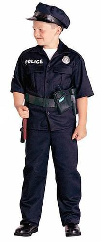 Police Officer Child Costume  sc 1 st  Pinterest & Easy DIY Kids Cop Costume   Can Do Pinners   Pinterest   Sewing diy ...