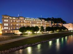 A beautiful #night view of #Hotel Sacher Salzburg