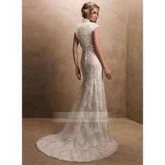 Modest Lace Wedding Dresses | modest lace wedding dresses | Modest Lace Cap-sleeves Wedding Dress ...