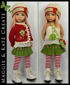 Christmas Party #2 Outfit for Little Darlings Dianna Effner 13  by Maggie & Kate