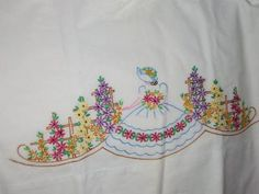 vintage southern belle pillowcases in garden wow