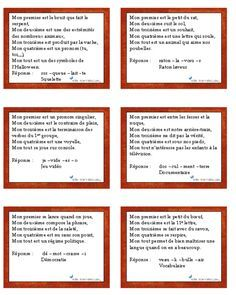 Des charades pour lire et samuser French Teacher, Teaching French, Charades, Escape Box, School Scavenger Hunt, Flags Europe, French Classroom, Autism Activities, Minute To Win It