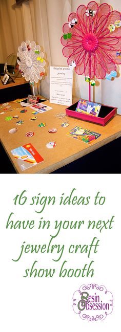 16 sign ideas for your next craft show jewelry booth to encourage sales! #etsy #resin #jewelry