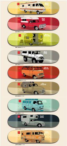 "Old Vans, Campers & Motorhomes - Next Collection - Evan Hecox x Chocolate Skateboards 2013 ""Vagabond"""