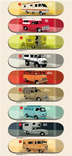 "Old Vans, Campers & Motorhomes - Next Collection - Evan Hecox x Chocolate Skateboards 2013 ""Vagabond"""