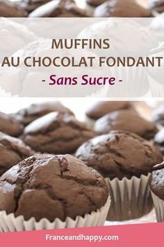 I just made the Dark Chocolate Muffins … It's a killer! I share with you the recipe for these chocolate muffins with a fondant croq'kilos heart. Diabetic Recipes, Healthy Recipes, Healthy Food, Chocolate Muffins, Healthy Muffins, Muffin Recipes, Clean Eating Snacks, Food And Drink, Cooking