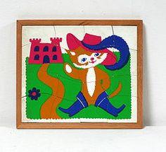 Puzzle Le Chat Botté, vintage Fernand Nathan 1950 / 1960