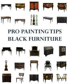 Black Painted Furniture On Pinterest Beach Furniture Decor Milk Paint Furniture And Beach