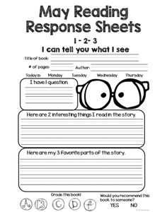 Reading Homework Response Sheets that can be used with any book!  This set of Reading Response sheets will help your students keep track of the books they are reading. The best part is that you can use it with any set of books! Increase accountability with these Reading Response Sheets!  You can use these in your reading centers, small groups, homework and more, just print and go!
